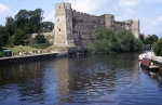 Newark Castle down river